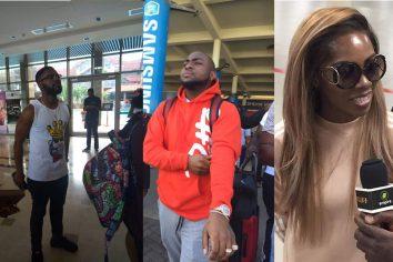 Davido, Falz & Tiwa Savage arrive for Ghana Meets Naija 2017