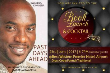 Kwabena Kwabena to launch new book 'Past Days Ahead' on June 23