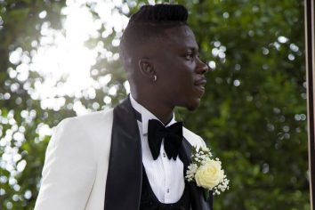 Stonebwoy looked dapper in 'tux' on wedding day