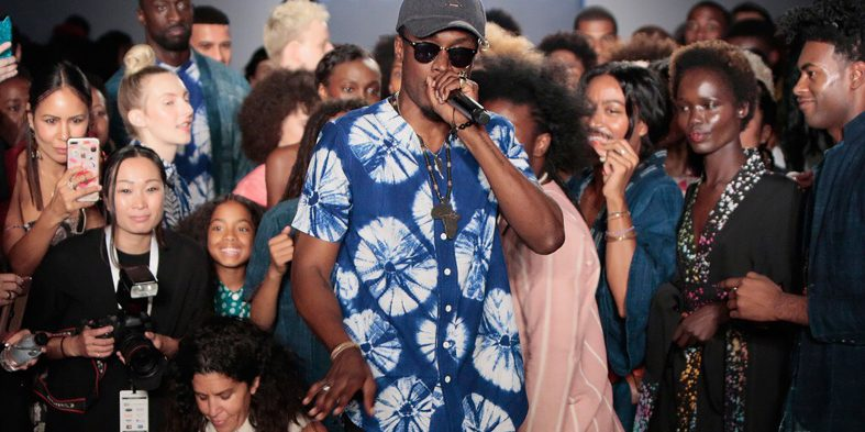 E.L performs for Studio 189 at New York Fashion Week