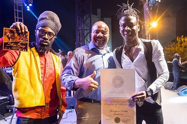 Stonebwoy receives citation for the development of Caribbean music & arts