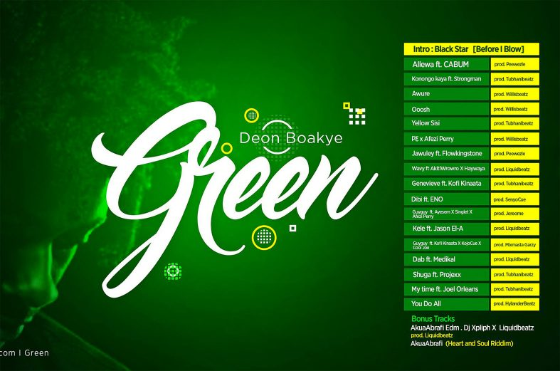 Deon Boakye delights with wavy Green LP