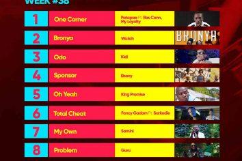 Week #38: Ghana Music Top 10 Countdown