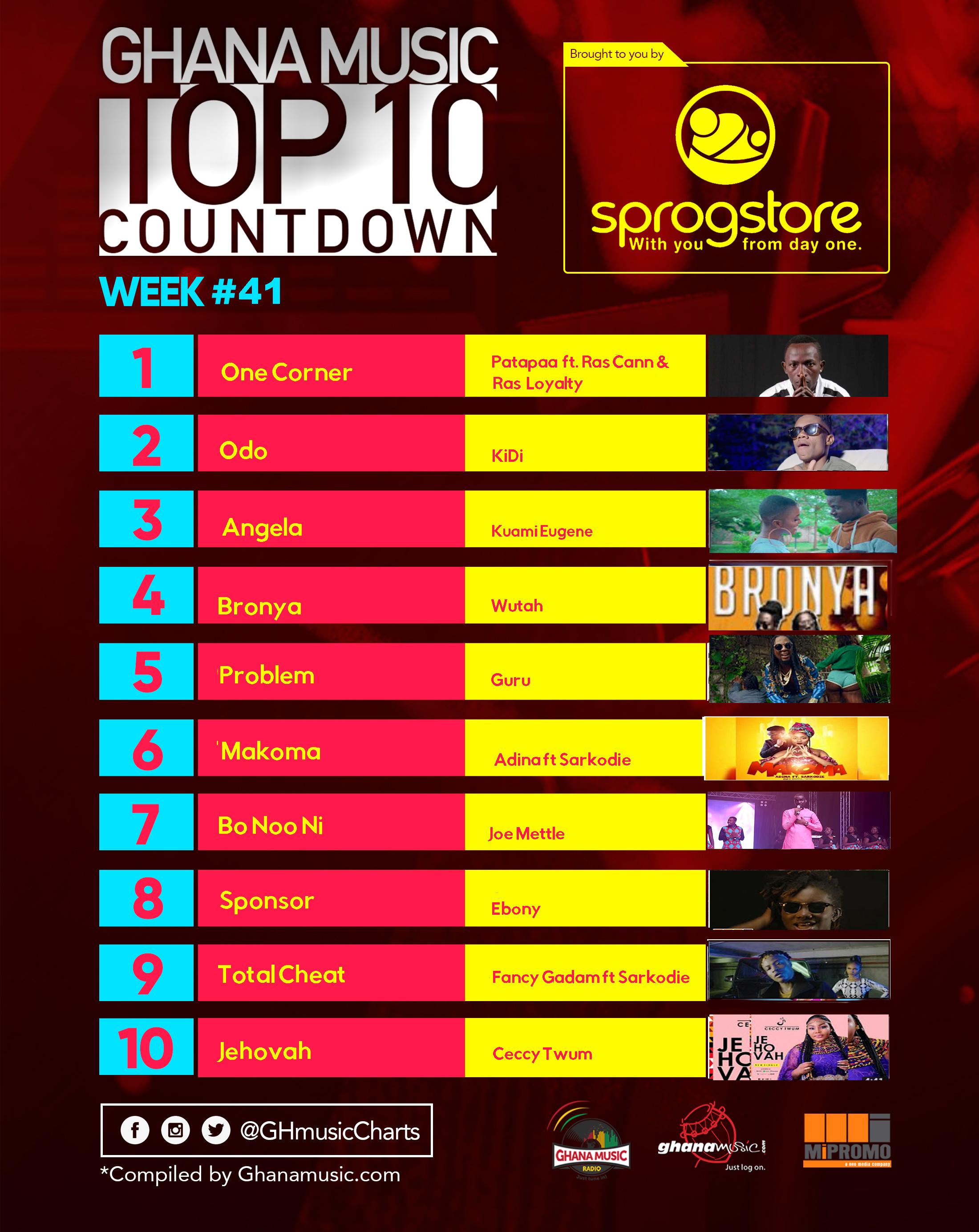 Week #41: Week ending Saturday, October 14th, 2017. Ghana Music Top 10 Countdown.