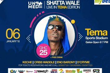 Shatta Wale up for a first time performance in Tema