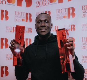 Stormzy wins 2 and lights up Brit Awards 2018