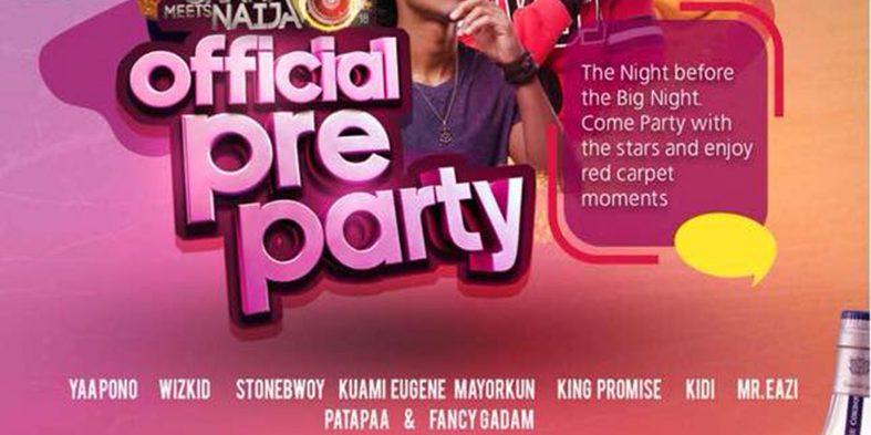 The 2018 Ghana Meets Naija pre-party is on Friday at Soho