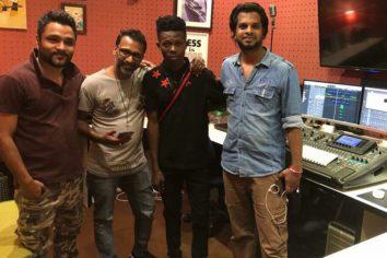 Sarkcess rapper Strongman hits the studio in Dubai