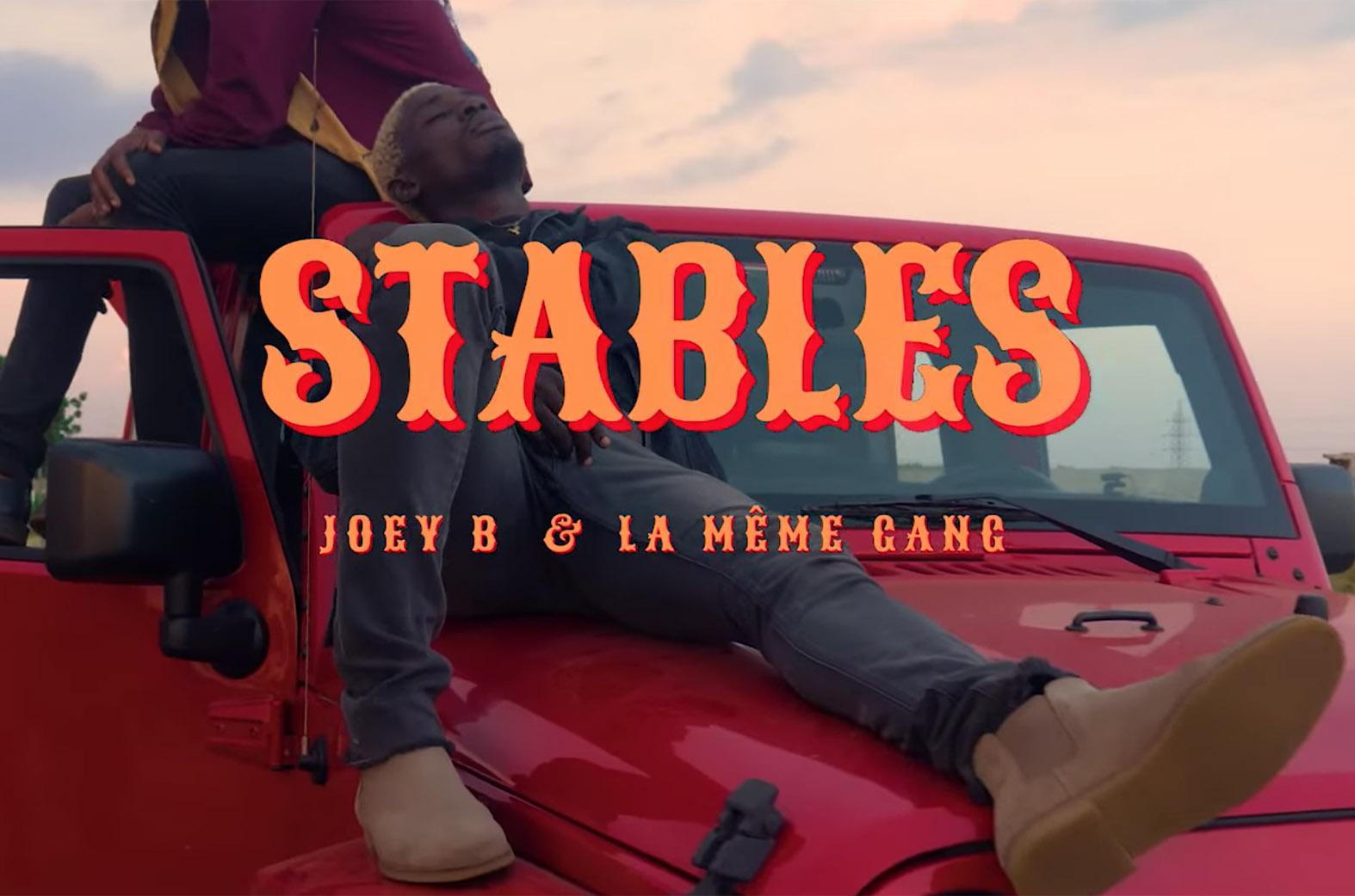 Video Premiere: Stables by Joey B feat. La Mème Gang