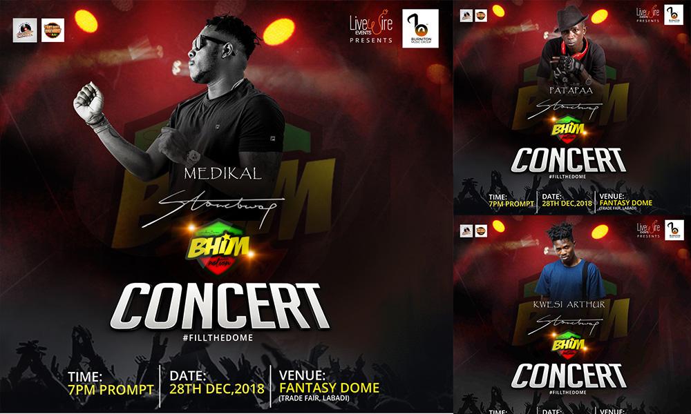 Medikal, Kwesi Arthur & Patapaa to perform at 'BHIM' concert